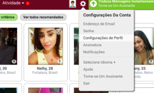 Como apagar, eliminar, deletar, anular cancelar o cadastro a assinatura a inscrição o perfil a conta do Brazilcupid .com passo 2