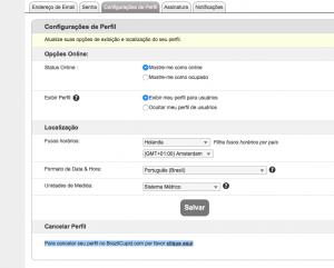 Como apagar, eliminar, deletar, anular cancelar o cadastro a assinatura a inscrição o perfil a conta do Brazilcupid .com passo 3