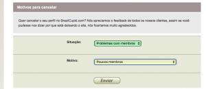 Como apagar, eliminar, deletar, anular cancelar o cadastro a assinatura a inscrição o perfil a conta do Brazilcupid.com passo 4