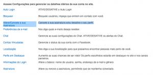 cancelar a assinatura do Match.com cancele a sua conta