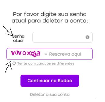Como excluir eliminar cancelar apagar sua conta do badoo passo 8