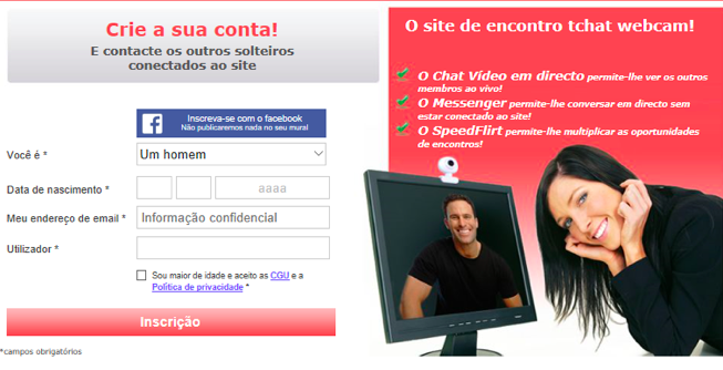 Como entrar se inscrever no datecamin.com video cam mulheres