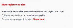 Como eliminar apagar excluir deletar cancelar o cadastro o perfil a conta do Encontros Locais passo 5